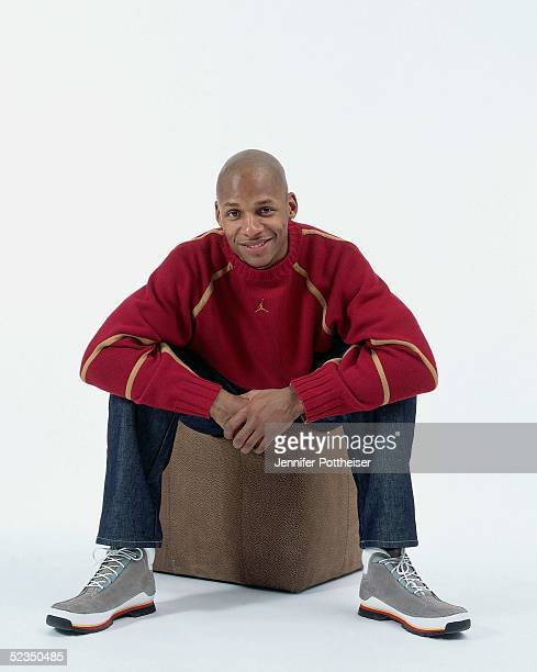 Ray Allen poses for a photo during the 2005 NBA AllStar Media Availability portrait session on February 18 2005 at The Westin Hotel in Dever Colorado...