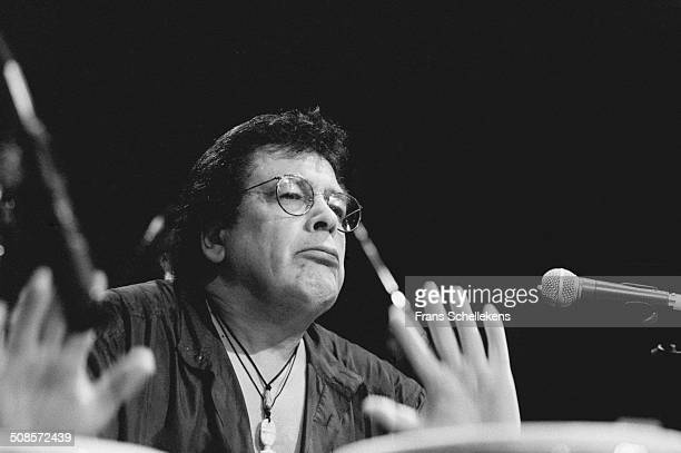 Ray Barretto, percussion, performs at the Melkweg on 27th March 1995 in Amsterdam, Netherlands.