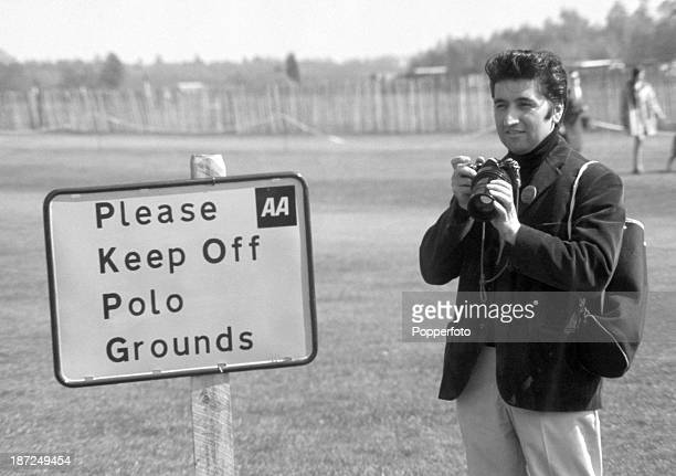 Ray Bellisario one of the first photographers to take unofficial and informal photographs of the Royal Family pictured at the Polo ground in Windsor...