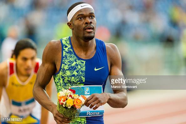 Ray Benjamin of USA celebrates after winning in men's 400m Hurdles... News  Photo - Getty Images