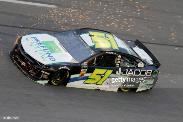 Ray Black II driver of the Prefund Capital/Jacob Companies Chevy during the Coke Zero 400 Monster Energy Cup Series race on July 7 at Daytona...