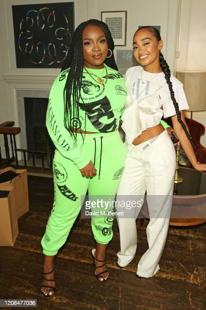 Ray BLK and LeighAnne Pinnock attend the #OwnTheTable dinner and panel hosted by Leomie Anderson and Ray BLK at Soho House on March 10 2020 in London...