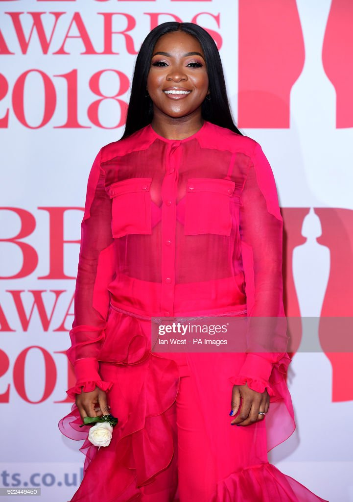 Ray BLK attending the Brit Awards at the O2 Arena, London