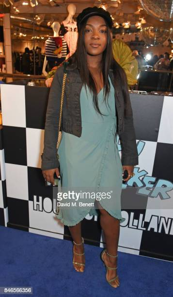 Ray BLK attends the launch of the House of Holland x Woody Woodpecker London Fashion Week pop up at Fenwick Of Bond Street on September 13 2017 in...