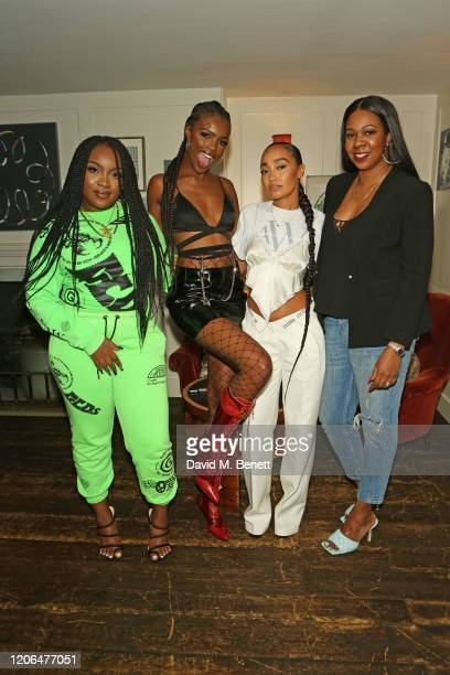 Ray BLK Leomie Anderson LeighAnne Pinnock and Vannessa AmadiOgbonna attend the #OwnTheTable dinner and panel hosted by Leomie Anderson and Ray BLK at...