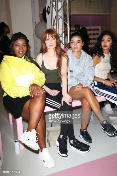 Ray BLK Nicola Roberts Molly Moorish and Kara Marni attend the JD and adidas Falcon fashion show curated by Hailey Baldwin on September 17 2018 in...