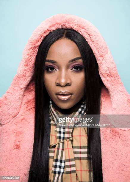 Ray BLK poses in the Studio during the MTV EMAs 2017 held at The SSE Arena Wembley on November 12 2017 in London England