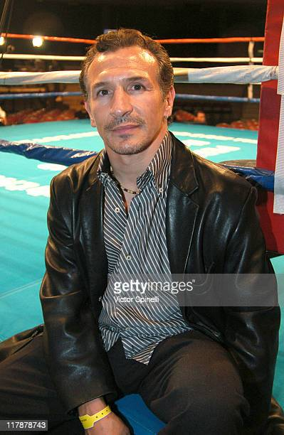 Ray Boom Boom Mancini during Perfect 10 Magazine Model Boxing at The Grand Olympic Auditorium in Los Angeles California United States