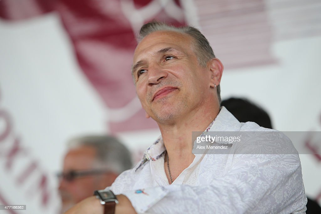 Ray 'Boom Boom' Mancini listens during the induction ceremony at the International Boxing Hall of Fame induction Weekend of Champions events on June 14, 2015 in Canastota, New York.