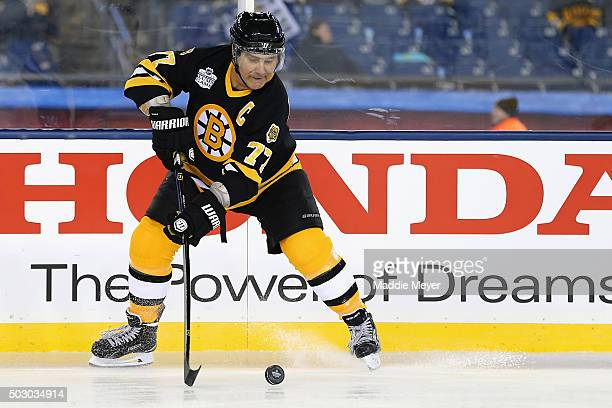 Ray Bourque of the Boston Bruins skates against the Montreal Canadiens during the 2016 Bridgestone NHL Winter Classic Alumni Game at Gillette Stadium...