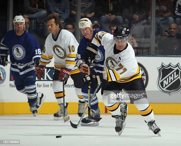Ray Bourque skates during the Legends Classic Game at the Air Canada Centre on November 13 2011 in Toronto Ontario Canada