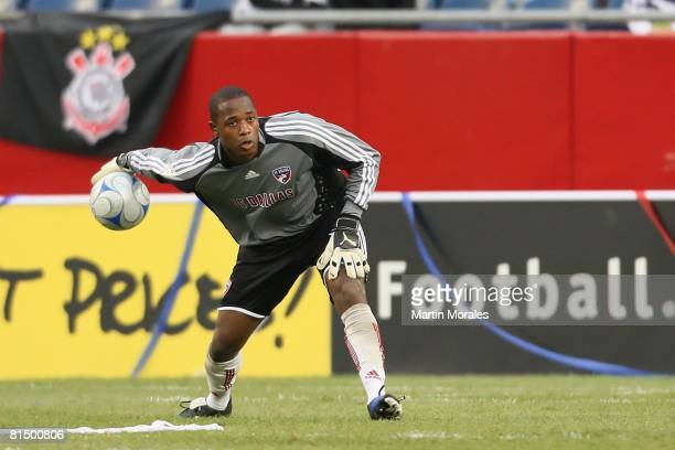 Ray Burse of FC Dallas handles the ball against the New England Revolution at Gillette Stadium on June 06 2008 in Foxborough MassachusettsThe...