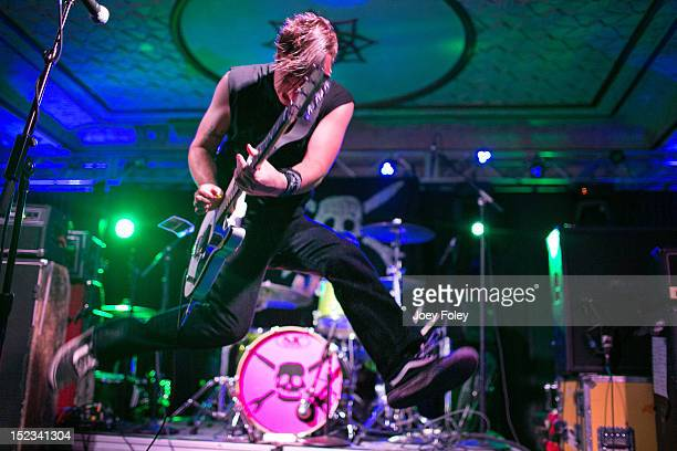 Ray Carlisle of Teenage Bottlerocket performs onstage at Old National Centre on September 18 2012 in Indianapolis Indiana