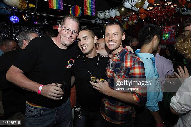Ray Carr and guests attend Alex Carr's birthday celebration at The Stonewall Inn on June 16 2012 in New York City