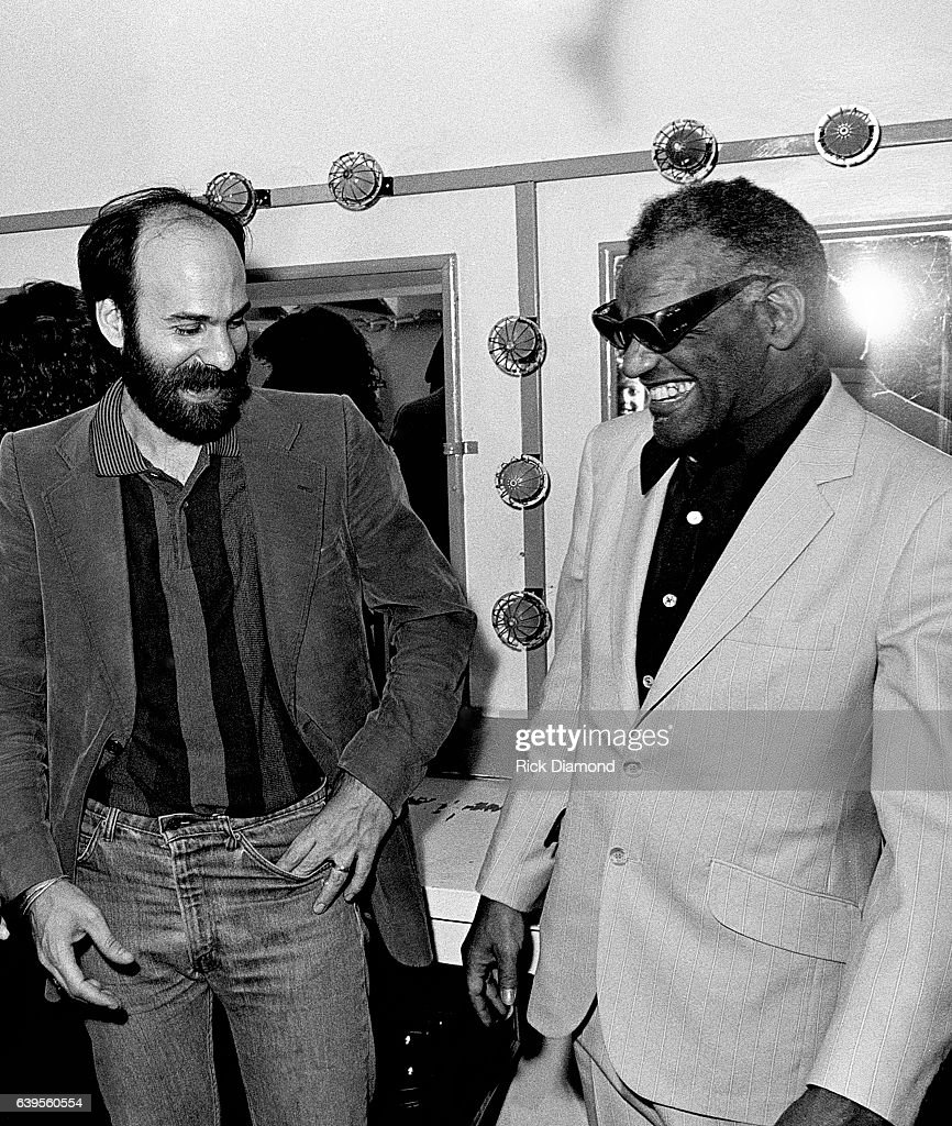 Ray Charles and Alan Oreman CBS Records backstage at The Fox Theater in Atlanta Georgia April 26, 1983