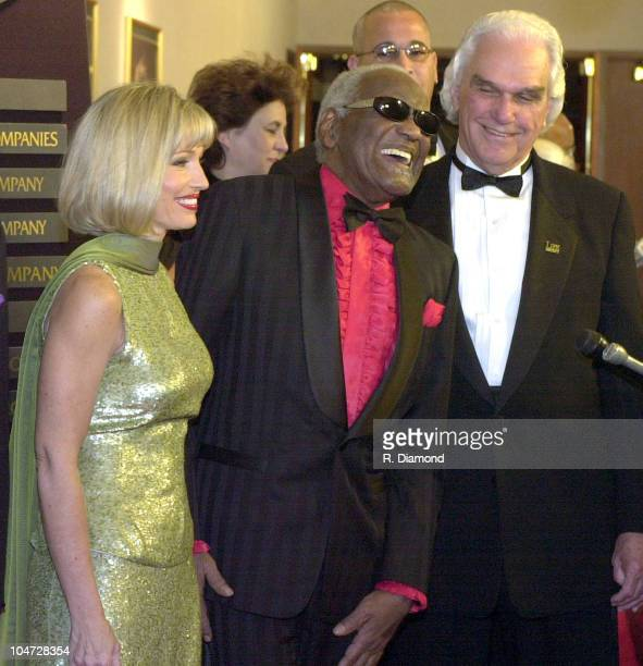 Ray Charles and DrSid during 2001 Trumpet Awards at The Omni Hotel in Atlanta Georgia United States
