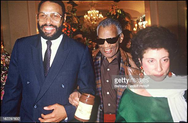 Ray Charles and his wife at the Royal Monceau Hotel in Paris 1988