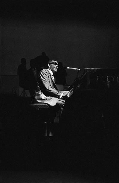 Ray Charles behind the scence at the Olympia in Paris, France on May 18, 1962.