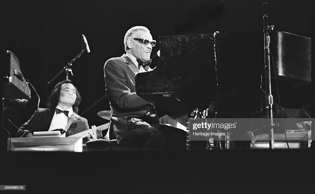 Ray Charles, Capital Jazz Festival, Knebworth, 1982.  Artist: Brian O'Connor. : News Photo