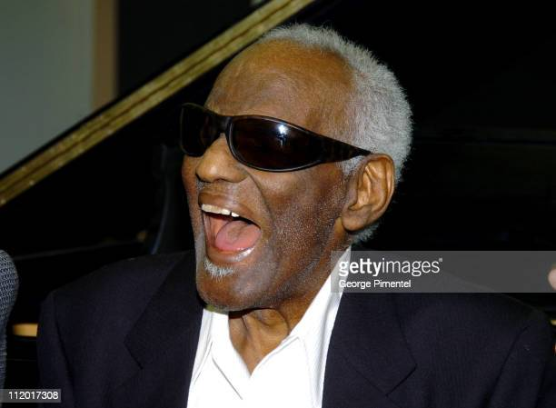 Ray Charles during Music Legend Ray Charles Gets Grammy Presidents's Merit Award at Ray Charles Enterprises in Los Angeles, CA, United States.