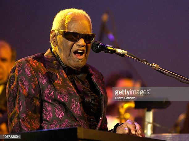 Ray Charles during Ray Charles in Concert at the Greek Theatre for His 10,000th Performance - Los Angeles at Greek Theatre in Hollywood, California,...