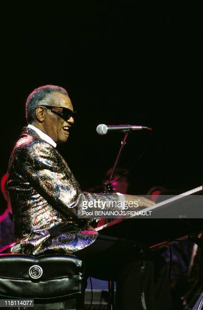 Ray Charles in concert at the Zenith in Paris France on November 04 1989