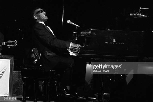 Ray Charles in concert salle Pleyel in Paris France on April 20 1975