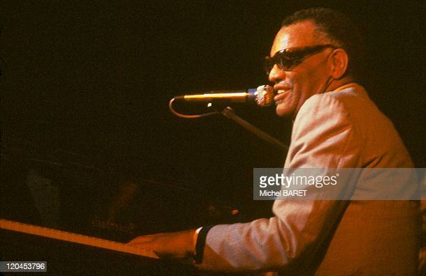 Ray Charles in United States American jazz pianist Ray Charles