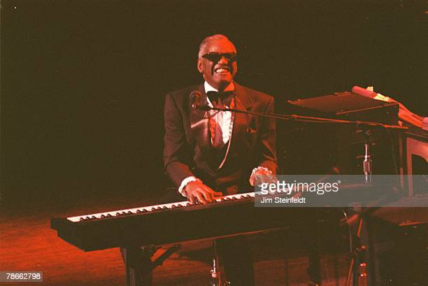 Ray Charles legendary rhythm and blues pianist performs at the Orpheum Theater in Minneapolis Minnesota on August 16 1990