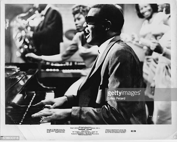 Ray Charles, performing, USA, 1962.