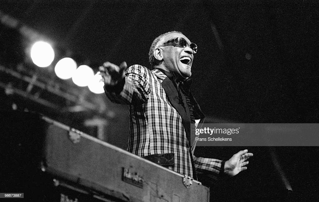 Ray Charles performs live on stage at the North Sea Jazz Festival in The Hague, Holland on July 14 1985