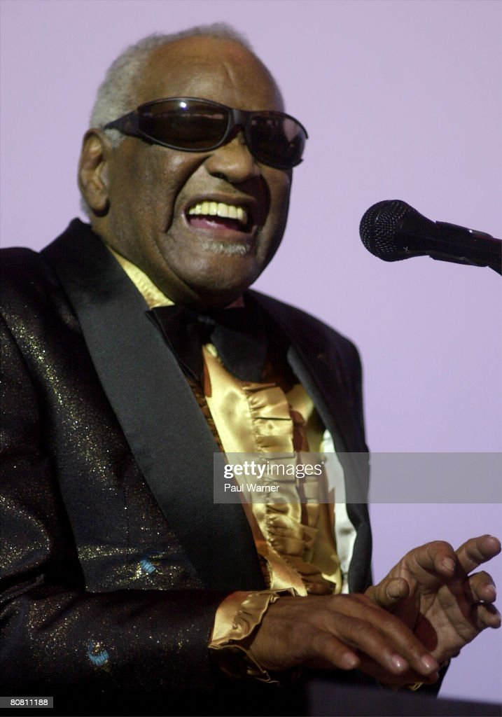 "Ray Charles at the ""Concert of Colors"" in Detroit : News Photo"