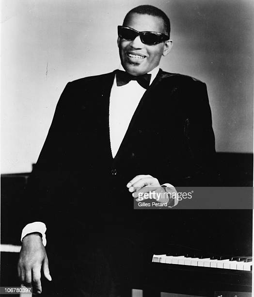 Ray Charles poses for a studio portrait in 1970 in the United States