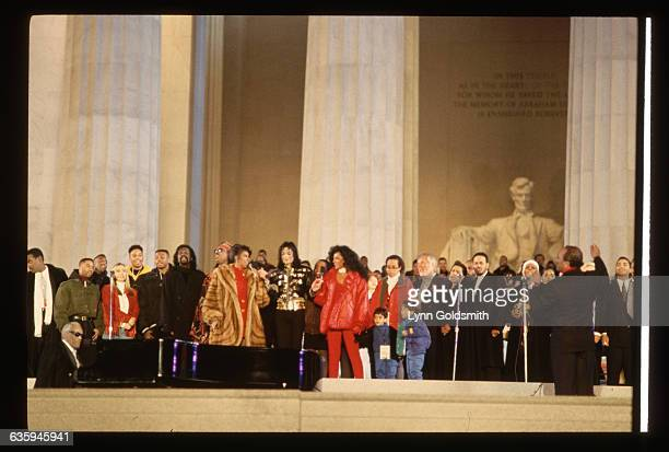 Ray Charles Quincy Jones Michael Jackson Kenny Rogers Melissa Etheridge Aretha Franklin and Diana Ross are among the celebrities present at the 1993...