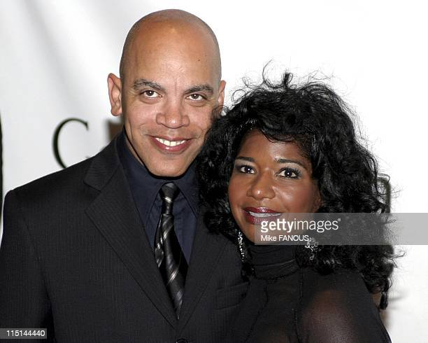 Ray Charles Tribute in Beverly Hills United States on September 29 2004 Richey Miner and wife Karen attend the Ray Charles Tribute at the Beverly...