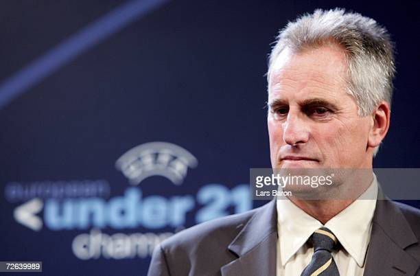 Ray Clemence of Great Britain is seen after the UEFA European Under 21 Championship Final Draw at the Arnhem city hall on November 24 2006 in Arnhem...