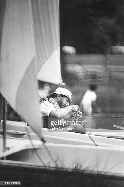 JUL 18 1976 JUL 19 1976 Ray Dangle Attempts to remove bee stinger from his big toe Prior to men's race