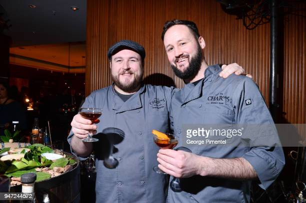 Ray Daniel Mixologist Char 5 Delta Toronto and Adrian Murphy Char 5 Delta Toronto attends the celebration of Marriott International's announcement of...