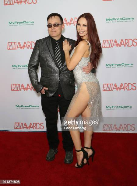 Ray Dark and adult film actress Aidra Fox attend the 2018 Adult Video News Awards at the Hard Rock Hotel Casino on January 27 2018 in Las Vegas Nevada