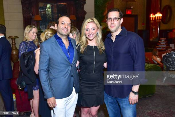 Ray Davdan Lauren Rome and Michael Givner attend AFIM Presents Celebrate Summer An Art Acquisitions Fundraiser at The Jane Hotel on June 22 2017 in...