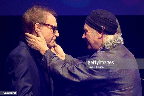 Ray Davies and Dave Davies winners of Q Classic Album at the Q Awards 2018 held at The Roundhouse on October 17 2018 in London England