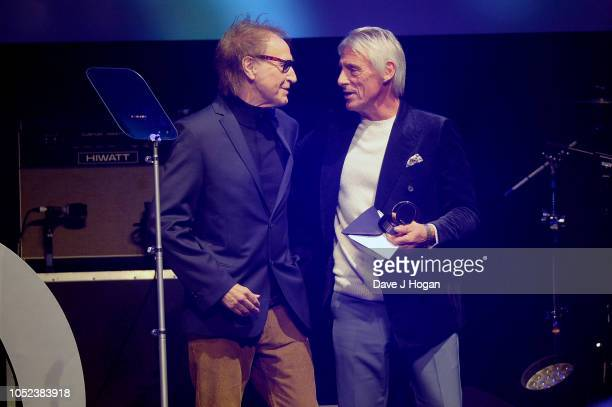 Ray Davies and Paul Weller at the Q Awards 2018 held at The Roundhouse on October 17 2018 in London England