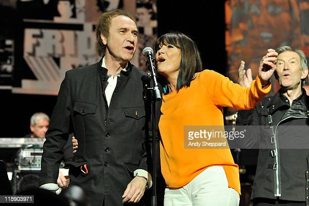 Ray Davies and Sandie Shaw perform on stage during a recreation of the 1960's British TV Pop show Ready Steady Go as part of Ray Davies Meltdown...