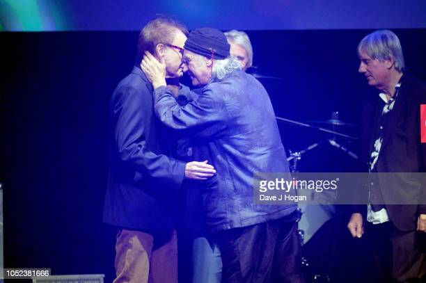 Ray Davies Dave Davies and Mick Avory of The Kinks winners of Q Classic Album at the Q Awards 2018 held at The Roundhouse on October 17 2018 in...