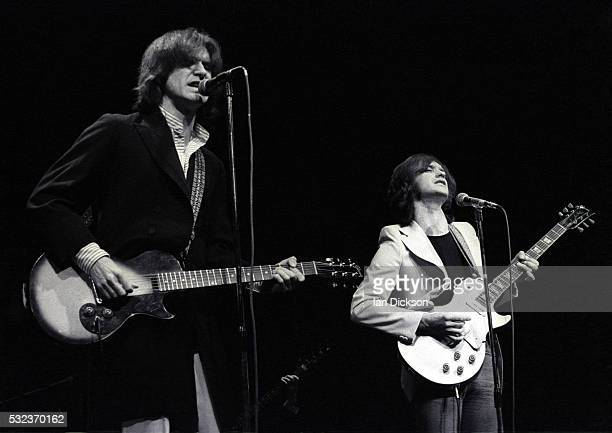 Ray Davies Dave Davies of The Kinks performing on stage London United Kingdom 1974