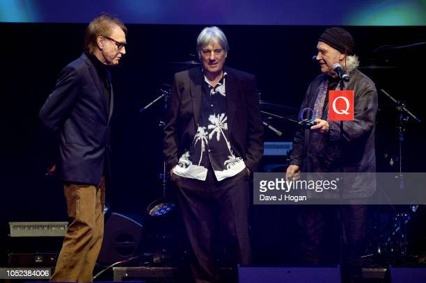 Ray Davies Mick Avory and Dave Davies of The Kinks winners of Q Classic Album at the Q Awards 2018 held at The Roundhouse on October 17 2018 in...