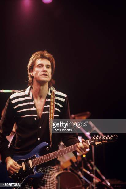 Ray Davies of The Kinks performing at the Brendan Byrne Arena in East Rutherford, New Jersey on January 10, 1982.