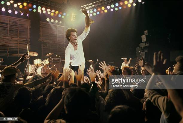 Ray Davies of the Kinks performs live at The Berkeley Community Theatre in 1976 in Berkeley, California.