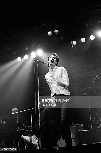 Ray Davies performing with The Kinks at The Spectrum in Philadelphia Pennsylvania on October 24 1980