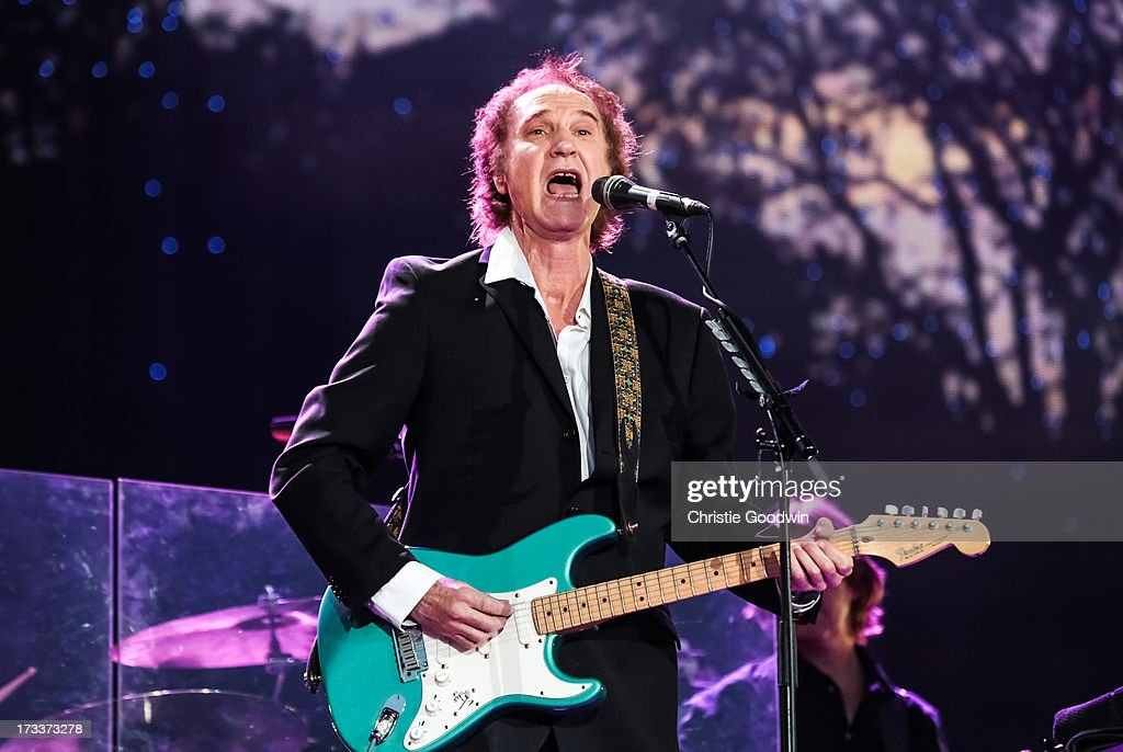 Ray Davies performs on stage at British Summer Time Festival at Hyde Park on July 12, 2013 in London, England.